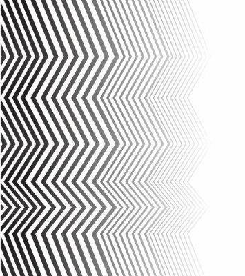 Fotomural Blanco y negro mobious wave stripe diseño abstracto óptico