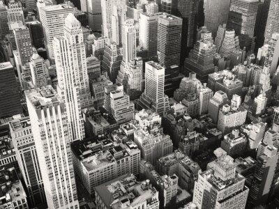 Fotomural Blanco y negro, vista, midtown, nuevo, york, ciudad