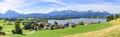 Fotomural Blick auf Hopfen am See en Allgäu
