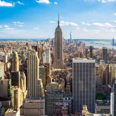 Fotomural Blick auf Manhatten en Nueva York, Estados Unidos