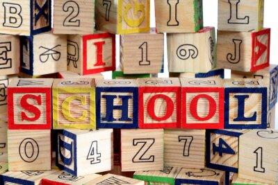Fotomural Bloques de madera del alfabeto