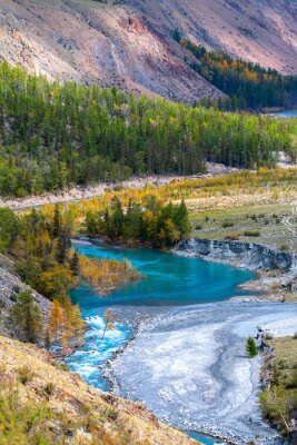 Fotomural blue river in mountains