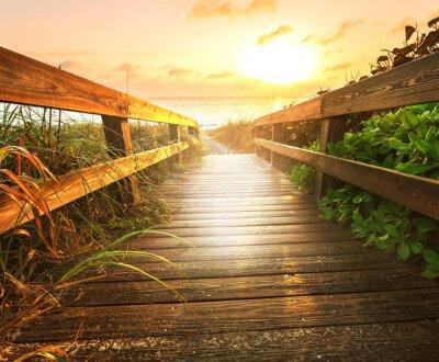 Fotomural Boardwalk en la playa