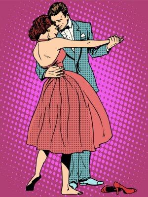 Fotomural Boda amantes de la danza hombre y mujer