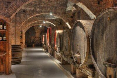 Fotomural Bodega con barriles de vino