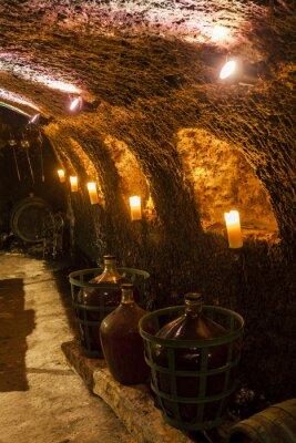 Fotomural Bodega en Velka ARNt, Tokaj Región del vino, Eslovaquia