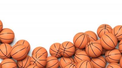 Fotomural Bolas de baloncesto aislados sobre fondo blanco