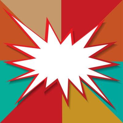 Fotomural Boom icon background ilustración vectorial