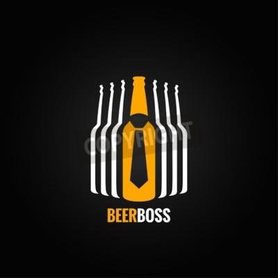 Fotomural Botella de cerveza jefe concepto de diseño de fondo