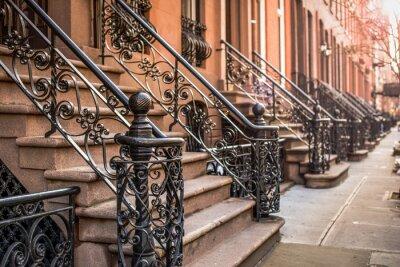 Fotomural Brownstone Apartamentos en el barrio de Chelsea de Nueva York