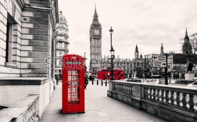 Fotomural Cabina telefónica roja en Londres