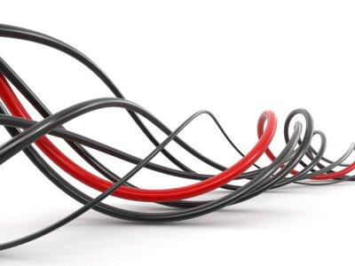 Fotomural Cables de colores. Imagen con el camino de recortes.
