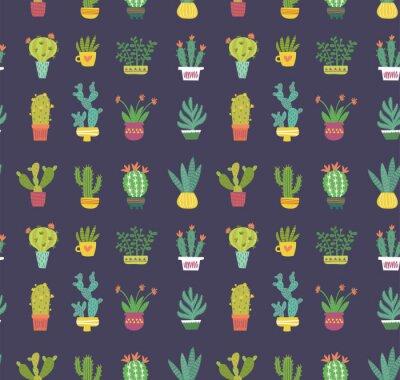 Fotomural cactus de patrones sin fisuras