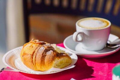 Fotomural Café con croissant