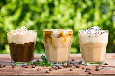 Fotomural Café de hielo con leche y crema batida