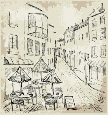 Fotomural Café de la calle