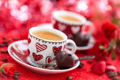 Fotomural Café para el día de San Valentín.