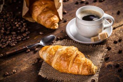 Fotomural Café y croissant