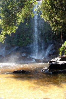 Fotomural Caídas en el territorio del parque nacional, Camboya