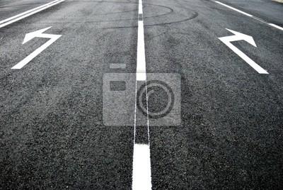 Fotomural calle, carretera, flecha de dirección