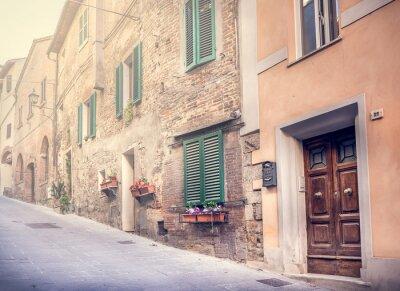 Fotomural Calle cautivadora del antiguo Montepulciano