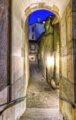 Fotomural Calle en la ciudad vieja, Ginebra, Suiza