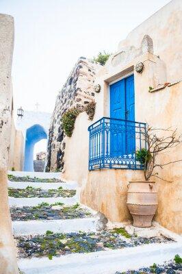 Fotomural Calle vieja en la aldea de Pyrgos