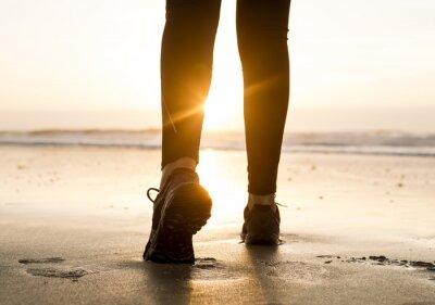 Fotomural Caminando a la puesta de sol