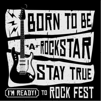 Fotomural Camiseta del vector del festival de música rock o ilustración del cartel