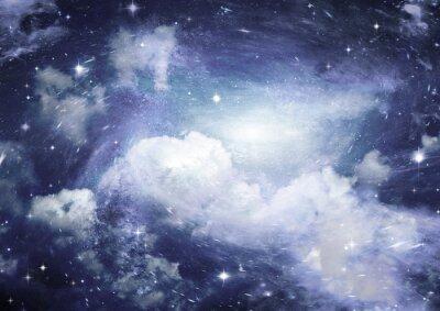Fotomural Campo de estrellas en el espacio y una nebulosa