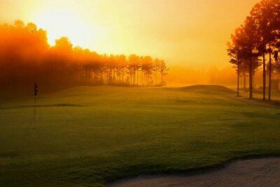 Fotomural campo de golf en la madrugada