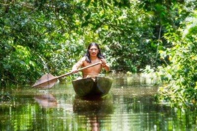 Fotomural Canoa de Madera Indígena