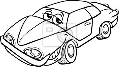 Fotomural Car Personaje Dibujos Animados Para Colorear