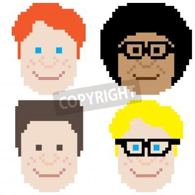 Cara de ni o ordenador retro pixel art de ocho bits fotomural fotomurales pixel ordenador - Fotomurales pixel ...