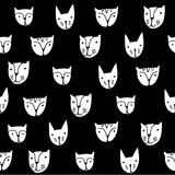 Caras Lindas De Los Gatos Vector De Dibujos Animados Patrón