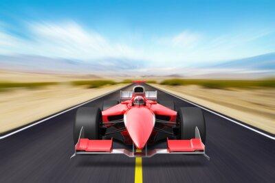 Fotomural Carrera de Fórmula coche rojo