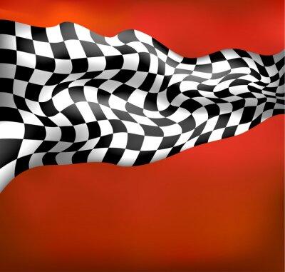 Fotomural carreras de fondo bandera a cuadros wawing