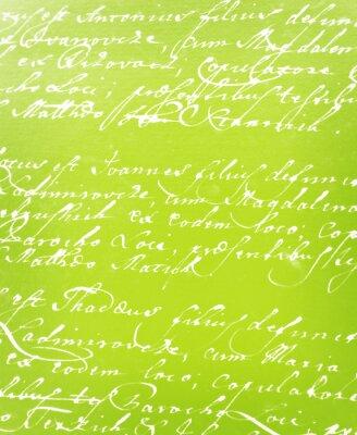 Fotomural carta escrita a mano de la vendimia