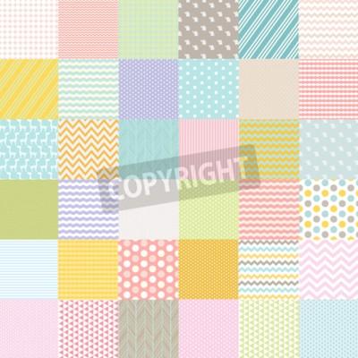 Fotomural Cartel de la fiesta de bienvenida al bebé, ilustración vectorial