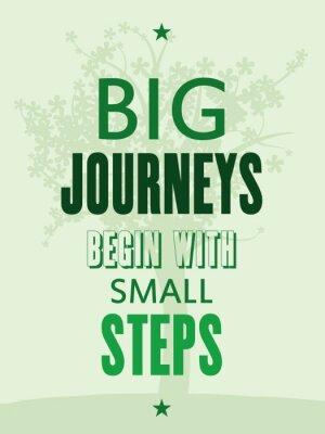 Fotomural Cartel de motivación - viajes grandes comienzan con pequeños pasos