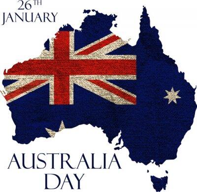 Fotomural Cartel del día de Australia