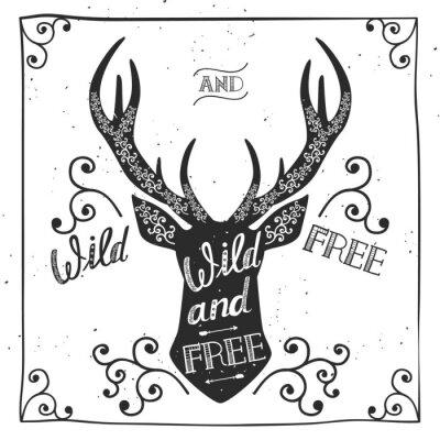 Fotomural Cartel dibujado mano de la tipografía, tarjeta de saludo, para el diseño de la camiseta