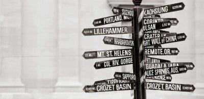 Fotomural Cartel famoso de los monumentos históricos en Portland, Oregon