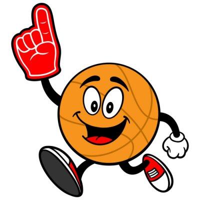 Fotomural Cartoon Baloncesto Correr con el dedo de espuma