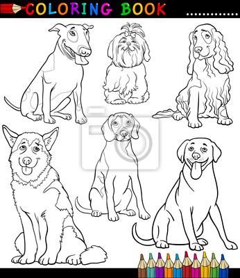 Cartoon dogs o cachorros para colorear fotomural • fotomurales ...