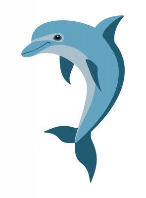 Fotomural cartoon dolphin