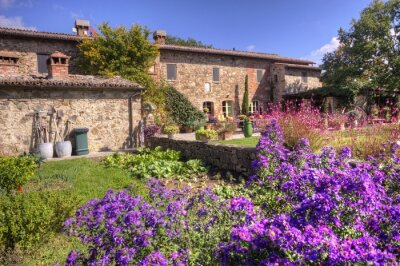 Fotomural Casa de campo toscana clásica