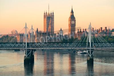 Fotomural Casa del parlamento en Westminster en Londres.
