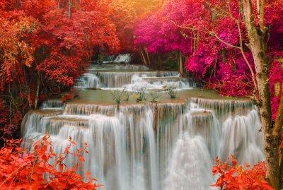 Fotomural Cascada en la selva de la selva profunda (Huay Mae Kamin Cascada i