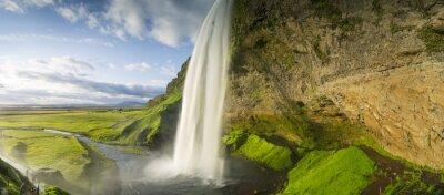 Fotomural Cascada que cae del cielo en Islandia